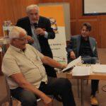 Univ.-Prof. Dr. Dr. Wolfgang Rohrbach, R. S. Tomek mit Philosoph u. Berater Dr. Christoph Quarch (v.l.n.r.)